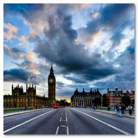 Αφίσα (τοπία, αστικά τοπία, αρχιτεκτονική, Λονδίνο, πόλη)